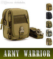 Wholesale Shoulder Bag Brown Molle - Wholesale-Men Small Bag Military Tactical Pouch MOLLE Messenger Bags For Male Ride Camping Hiking Bag Camouflage Shoulder Bag Phone Pack