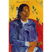 Wholesale paul gauguin paintings resale online - Decorative wall paintings Paul Gauguin Woman with a Flower art for wall decor hand painted oil on canvas