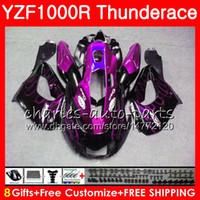 Wholesale Yzf Thunderace - Body For YAMAHA Thunderace Purple flames YZF1000R 96 02 03 04 05 06 07 84NO40 YZF-1000R YZF 1000R 1996 2002 2003 2004 2005 2006 2007 Fairing