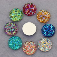 Wholesale Craft Acrylic Jewelry - 100PCS 16MM Newest AB Color Crystal Acrylic Round flatback Rhinestones Stone Beads Scrapbooking crafts Jewelry Accessories