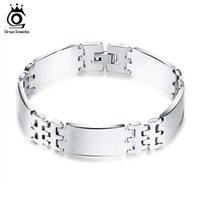 Wholesale Pure Silver Chains For Men - New Arrival Pure Silver Color 316L Stainless Steel Bracelet for Men Charm Bracelet GTB51