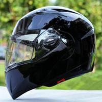 Wholesale China Flip Up Helmets - the china undrap face helmet electric Motorcycle capacete Helmets Flip up helmet with dual inner lens visor JIEKAI 105