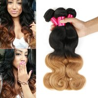 Wholesale Virgin Peruvian Honey Blonde - 1b 27 Two Tone Ombre Hair Weaves Body Wave Hair Extensions 100% Brazilian Virgin Human Hair Honey Blonde Ombre Brazilian Body Wave