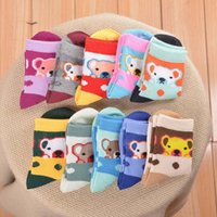 Wholesale Combed Cotton Child Sock - 10 Styles Soft Combed Cotton Cartoon Children Socks Cute Boys Girls Socks Cartoon Pattern Kids Socks For 4-15Y