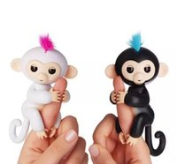 Wholesale New Finger Rings - 2017 New Hot 6 Colors Fingerlings Monkey Interactive Baby Monkey Smart Rings Colorful Finger Ring Induction Toys for Kids Christmas Gifts