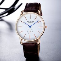 Wholesale Mens Watch Thin - 2017 Hot Sale Top Brand nomos Man Watches fashion Ultra thin Quartz watch leather luxury Mens Wrist Watch orologio uomo atmos clock