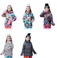 Wholesale Girls S Jackets - 2015 girls camouflage ski jacket childrens leopard skiing jacket kids colorful snowboarding jacket outdoor coat same model with adults