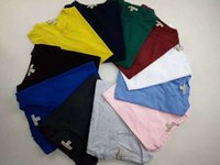Wholesale Blue Red Crewneck - British Men T-shirt Brand Clothing Short Sleeves Tee Poleras Hombre Crewneck Tshirt Casual T Shirt Men Cotton Embroidery horses Tees