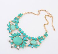 Wholesale Trendy Shorts For Women - Wholesale-2015 New Arrival Fashion Jewelry Trendy Women Necklaces & Pendants Link Chain Short Statement Necklace Resin Pendant For Gift