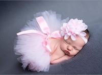 Wholesale Drop Shipping Wholesalers Baby Clothing - Drop shipping !! Newborn Tutu Clothes Skirt Baby Girls Ball Gown,baby girls bubble skirt + Headbands,Girls Bubble Skirt 2pcs BN