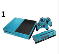 Wholesale Drop Shipping Xbox - Hot Selling ! Brand New Carbon Fiber Game Decal Skin Cover Sticker for Xbox One Console + Sticker for Xbox One Drop Shipping