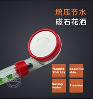 Wholesale Hand Held Shower Water Filter - Magnet therapy Shower Filter 30% saving water 300% pressure Tourmaline SPA Anion Hand Held Bathroom Shower Head Faucets Filter#60005