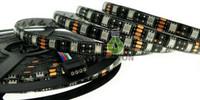 led para pcb board blanco al por mayor-Placa PCB negra 5050 tira de LED Blanco cálido RGB LED Tira 5050 IP65 Impermeable DC12V 300 LED 60led M cinta led flexible