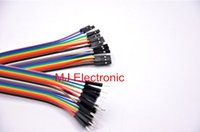 Wholesale Pin Jumpers - Wholesale-20pcs 20cm 2.54mm 1p-1p Pin Female to Male Color Breadboard Cable Jump Wire Jumper For Arduino