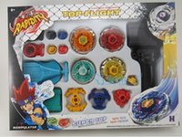 Wholesale Game Master - Beyblade Metal Fusion set System LOOSE Battle Top Lot Set Masters Kids Game Toys