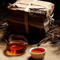 Wholesale brick tea - Made In 1970 Ripe Pu er Tea 250g Oldest Puer Ancestor Antique Honey Sweet Dull-red Puerh Tea Ancient Tree Pu'er Tea Brick