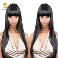 Wholesale Alternative Media - Hot Selling!!! 100% Human Hair wig alternative wigs with hair bang hair fringe wigs for women