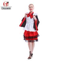 Wholesale Sakura Dress - Wholesale-Japanese Apron Dress Heavy Sakura Kimono Lolita Style French Maid Outfit Anime Cosplay Costumes