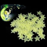 Wholesale Glow Wall Stars - New Hot 100pcs 3D Stars Glow In The Dark Luminous Fluorescent Plastic Wall Stickers Living Home Decor For Kids Rooms ZH145