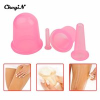 Wholesale Silicone Therapy Cups - Non-toxic 4PCS Health Care Silicone Vacuum Cupping Cups Neck Face Back Massage Cupping Cups Relax Full Body Massage Cup