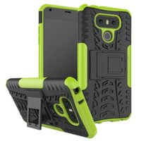 Wholesale X5 Green - Kickstand Case Shockproof Rugged Back Cover With Holder For LG G4 Play G6 X Power Style Max X5 Aristo LV3 MS210 K8 2017