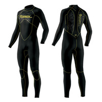 Wholesale Diving Suits 5mm - 5MM Men Neoprene wetsuit Surfing suit diving suit long sleeve keep warm inner with Microvillus Spearfishing scuba diving wetsuit