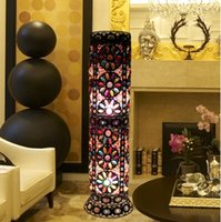 Wholesale Bohemian Lamps - Wholesale-Bohemian style bedroom decoration floor lamp living room iron floor lamps unique coffee shop floor lamp D30*H100CM free shipping