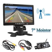 Wholesale Wireless Car Parking Sensor Kit - 7 Inch TFT LCD Car Rear View Monitor Wireless Parking Kit + Night Vision Camera + Video Transmitter and Receiver Kit CMO_50V