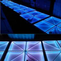 luces de piso de discoteca led al por mayor-RGB Led Dance Floor Panel Dancing Dance Floor Stage Disco Light Panel 432pcs LED Dance Floor Disco KTV Light Stage Iluminación Floor lamp