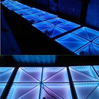 étage éclairé achat en gros de-RVB a mené le panneau de danse dansant le panneau de disco de lumière d'étape de danse de plancher 432pcs