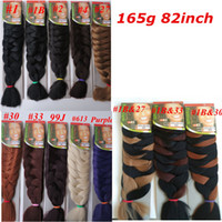 Wholesale Xpression Braiding Hair Wholesale - Xpression Synthetic Braiding Hair 82inch 165grams single color Premium Ultra Braid Kanekalon jumbo braid Hair Extensions