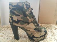 Wholesale Small Yards Sandals - 2018 fashion noble rhinestone small yards 14cm Bottom high heels sandals 5 inch Rhinestone pierced style camouflage high heels