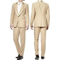 Wholesale Mens Wedding Suits Discounted - wedding suit for men Cheap Actual 2015 Mens Wedding Suits Customize Discount Groom Dress Groom Tuxedos handsome new design