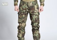 Wholesale Swat Uniforms - Men's Tactical casual swat BDU Combat Uniform long Pants for Airsoft Paintball Soldier Trainer Survival Hunting Fishing Camouflage Trouse