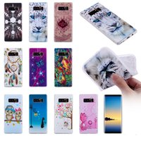 Wholesale Galaxy Note Cases Leopard - Relief Flower Kiss Owl Skull Soft TPU Case For Galaxy Note 8 S8 Plus S7 Edge(J3 J5 J7)2017 Dreamcatcher Leopard Butterfly Gel Cartoon Cover