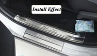 Wholesale Toyota Rav4 Scuff Plates - For 2014 2015 Toyota RAV4 RAV 4 Stainless Steel Scuff Plate Door Sill Welcome Pedal fits 2008-2013 Rav4 Car Accessories 4pcs set