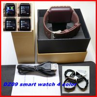 Wholesale Lg Android Sim Card - DZ09 Bluetooth SmartWatch phone For Android LG HTC SIM Card Wrist Watch Pk U8 GT08 A1 GV18 Smartwatch Smart Watches