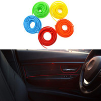 Wholesale Decoration Trim Line - 5M Universal Car Styling Flexible Interior Internal Decoration Moulding Trim Decorative Strips Line DIY Sticker Car-Styling