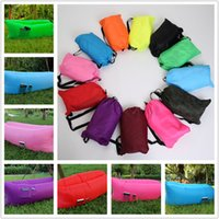 Wholesale Camping Tens - Fast Inflatable Lamzac Hangout Air Sleep Hiking Camping Bag Bags Bed KAISR Beach Sofa Lounge Only Ten Seconds Inflate With Pocket 12 Colors