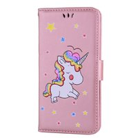 Wholesale Star Xperia - Unicorn Horse Wallet Leather Case For Oneplus 5 Redmi NOTE4 NOTE3 LG K10 Sony Xperia X XA XZ Cartoon Animal Star Flip Phone Stand Cover