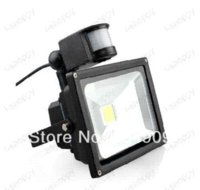 Wholesale High Power W LM Detector PIR Motion Sensor Security Flood Light Gate Stairs Garden Garage Exit Entrance Lamp Kit Waterproof