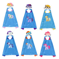 Doppelte seite kinder Superheld Cartoon Nette Capes und masken Kinder Kinder Capes Cosplay Party Kostüme Halloween