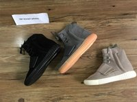 Wholesale Day Running Lights - 750 Boost Glow In The Dark Kanye West Leather Ankle Boots Men's Sport Running Shoes(With receipt laces dust bags boxes)