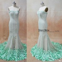 Wholesale dresses exquisite evening gown - Real Images 2016 Sparkly Sexy Mermaid Evening Dresses Sequins Sweep Train Party Gowns with Exquisite Appliques and Sweetheart