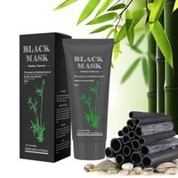 Wholesale Bamboo Charcoal Mask - 60g Black Mask Bamboo Charcoal Black Head Remover Mask Pore Cleaner Facial Mineral Mud BlackHead Nose Acne Treatments Deep Cleansing Natural