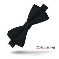 Wholesale Novelty Wedding Gifts - Bow Tie Solid Black Silk Men's Tuxedo Wedding Party Adjustable Silk Bow Tie Gift Box F-002