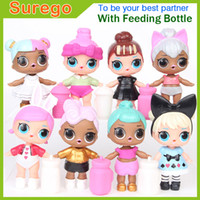 Wholesale Girls Doll Magic - Kitoz LOL Surprise Doll with Feeding Bottle Series 2 Girl Baby Sisters Friends Mini Doll Fun Magic Surpresa Toy For Kid Girl Gift