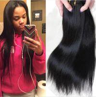 Wholesale hair per bundle resale online - Human Hair Weave Brazilian Hair Straight Hair Weaves Weft Cheap Hair Extensions Double Weft Human Hair bundles g per bundle
