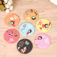 Wholesale Country Beauty - Free shipping Sweet and lovely portable makeup mirror portable mirror cartoon round beauty mirror HM001 mix order as your needs