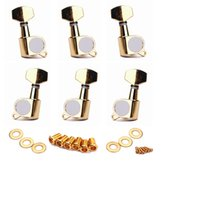 Wholesale Gold Tuning Peg - Set of (6) Gold Guitar String Tuning Pegs Tuners Machine Head Keys 3L3R Fit for Acoustic Guitar